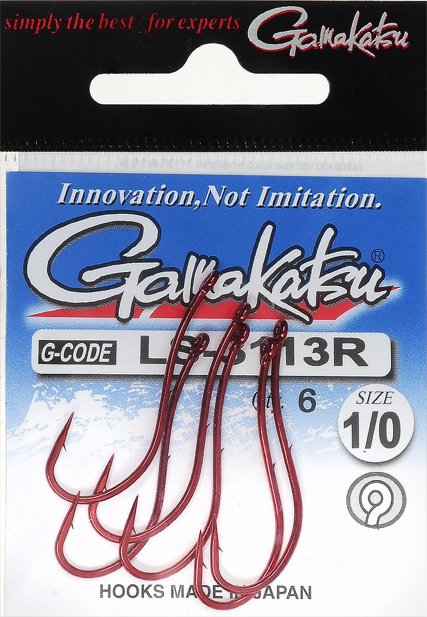 Крючок рыболовный Gamakatsu LS-3113R, размер 1/0, 6 шт14900400100Крючок Gamakatsu LS-3113R предназначен для ловли крупной рыбы. Изделие изготовлено из высококачественной и прочной стали. Крючок прекрасно справляется с любой рыбой как на море, так и на спокойной воде. Размер: 1/0. Количество: 6 шт. Вид головки: кольцо.