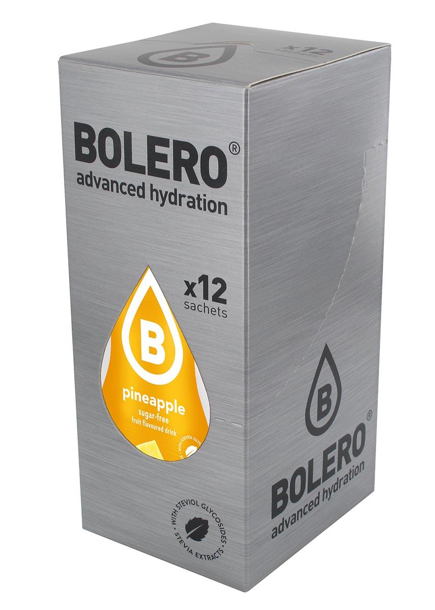 Напиток быстрорастворимый Bolero Pineapple / Ананас, 9 г х 12 штGESS-306Что же такое Bolero Drinks?В первую очередь это - вкусовая добавка без сахара, без глютена, без жиров и углеводов.Bolero Drinks – это мгновенные напитки, которые не содержат сахар, не содержат лактозы, не содержат консервантов, не содержат глютен, не содержат искусственных вкусовых и цветообразующих добавок!!!!!!! Каждый пакетик Bolero Drinks на Стивии весит 9 г, и его достаточно, чтобы подготовить 1,5-2 литра сока, в зависимости от вашего желания. Эти маленькие пакетики очень удобно носить с собой, и подготовка натурального напитка проста - просто добавьте в 1,5-2 литра холодной воды и размешайте. Но Bolero Drinks – это не только напитки. Это великолепное дополнение к каше, творогу и другим субстанциям. Состав: Без добавления ГМО. Не содержит Глютен, без сахара. Кислоты: лимонная кислота, яблочная кислота, мальтодекстрин; ароматические и вкусовые вещества; L-аскорбиновая кислота. Натуральные ароматизаторы и подсластители: ацесульфам К, сукралоза,стевиогликозиды (экстракты стевии), регулятор кислотности: тринатрийцитрат. Разрыхлитель: трикальцийфосфат; Загустители: гуаровая камедь, гуммиарабик (аравийская камедь).