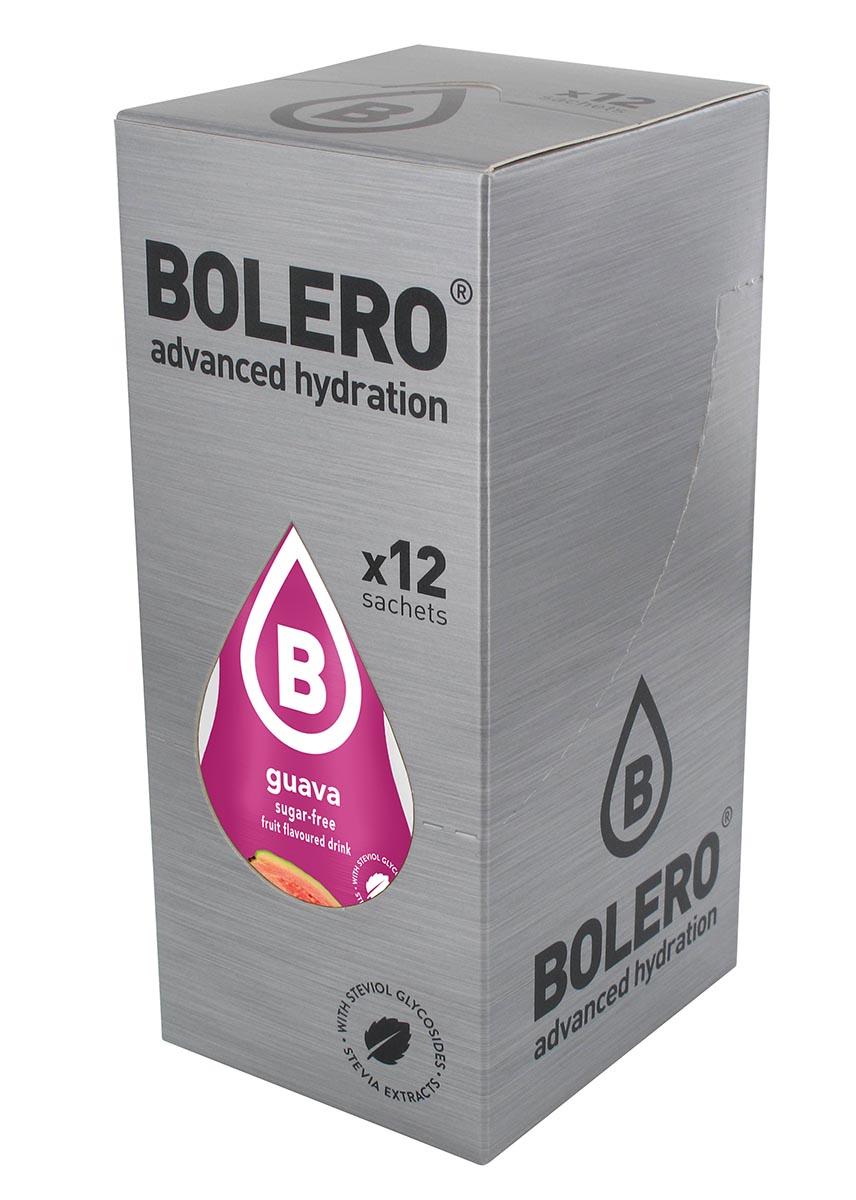Напиток быстрорастворимый Bolero Guava / Гуава, 9 г х 12 штGESS-306Что же такое Bolero Drinks?В первую очередь это - вкусовая добавка без сахара, без глютена, без жиров и углеводов.Bolero Drinks – это мгновенные напитки, которые не содержат сахар, не содержат лактозы, не содержат консервантов, не содержат глютен, не содержат искусственных вкусовых и цветообразующих добавок!!!!!!! Каждый пакетик Bolero Drinks на Стивии весит 9 г, и его достаточно, чтобы подготовить 1,5-2 литра сока, в зависимости от вашего желания. Эти маленькие пакетики очень удобно носить с собой, и подготовка натурального напитка проста - просто добавьте в 1,5-2 литра холодной воды и размешайте. Но Bolero Drinks – это не только напитки. Это великолепное дополнение к каше, творогу и другим субстанциям. Состав: Без добавления ГМО. Не содержит Глютен, без сахара. Кислоты: лимонная кислота, яблочная кислота, мальтодекстрин; ароматические и вкусовые вещества; L-аскорбиновая кислота. Натуральные ароматизаторы и подсластители: ацесульфам К, сукралоза,стевиогликозиды (экстракты стевии), регулятор кислотности: тринатрийцитрат. Разрыхлитель: трикальцийфосфат; Загустители: гуаровая камедь, гуммиарабик (аравийская камедь).