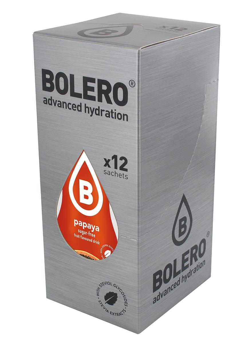 Напиток быстрорастворимый Bolero Papaya / Папайа, 9 г х 12 шт0003954Что же такое Bolero Drinks?В первую очередь это - вкусовая добавка без сахара, без глютена, без жиров и углеводов.Bolero Drinks – это мгновенные напитки, которые не содержат сахар, не содержат лактозы, не содержат консервантов, не содержат глютен, не содержат искусственных вкусовых и цветообразующих добавок!!!!!!! Каждый пакетик Bolero Drinks на Стивии весит 9 г, и его достаточно, чтобы подготовить 1,5-2 литра сока, в зависимости от вашего желания. Эти маленькие пакетики очень удобно носить с собой, и подготовка натурального напитка проста - просто добавьте в 1,5-2 литра холодной воды и размешайте. Но Bolero Drinks – это не только напитки. Это великолепное дополнение к каше, творогу и другим субстанциям. Состав: Без добавления ГМО. Не содержит Глютен, без сахара. Кислоты: лимонная кислота, яблочная кислота, мальтодекстрин; ароматические и вкусовые вещества; L-аскорбиновая кислота. Натуральные ароматизаторы и подсластители: ацесульфам К, сукралоза,стевиогликозиды (экстракты стевии), регулятор кислотности: тринатрийцитрат. Разрыхлитель: трикальцийфосфат; Загустители: гуаровая камедь, гуммиарабик (аравийская камедь).