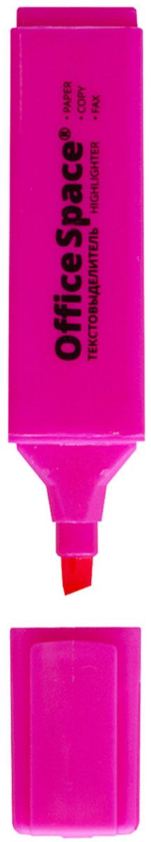 OfficeSpace Текстовыделитель цвет розовый H_266FS-36054Текстовыделитель OfficeSpace H_266 с флуоресцентными чернилами на водной основе. Удобный клип. Скошенный наконечник помогает выделить текст толщиной линии от 1 до 5 мм. Цвет колпачка и торцевого элемента соответствует цвету чернил. Цвет чернил - розовый. Подходит для всех типов бумаги.