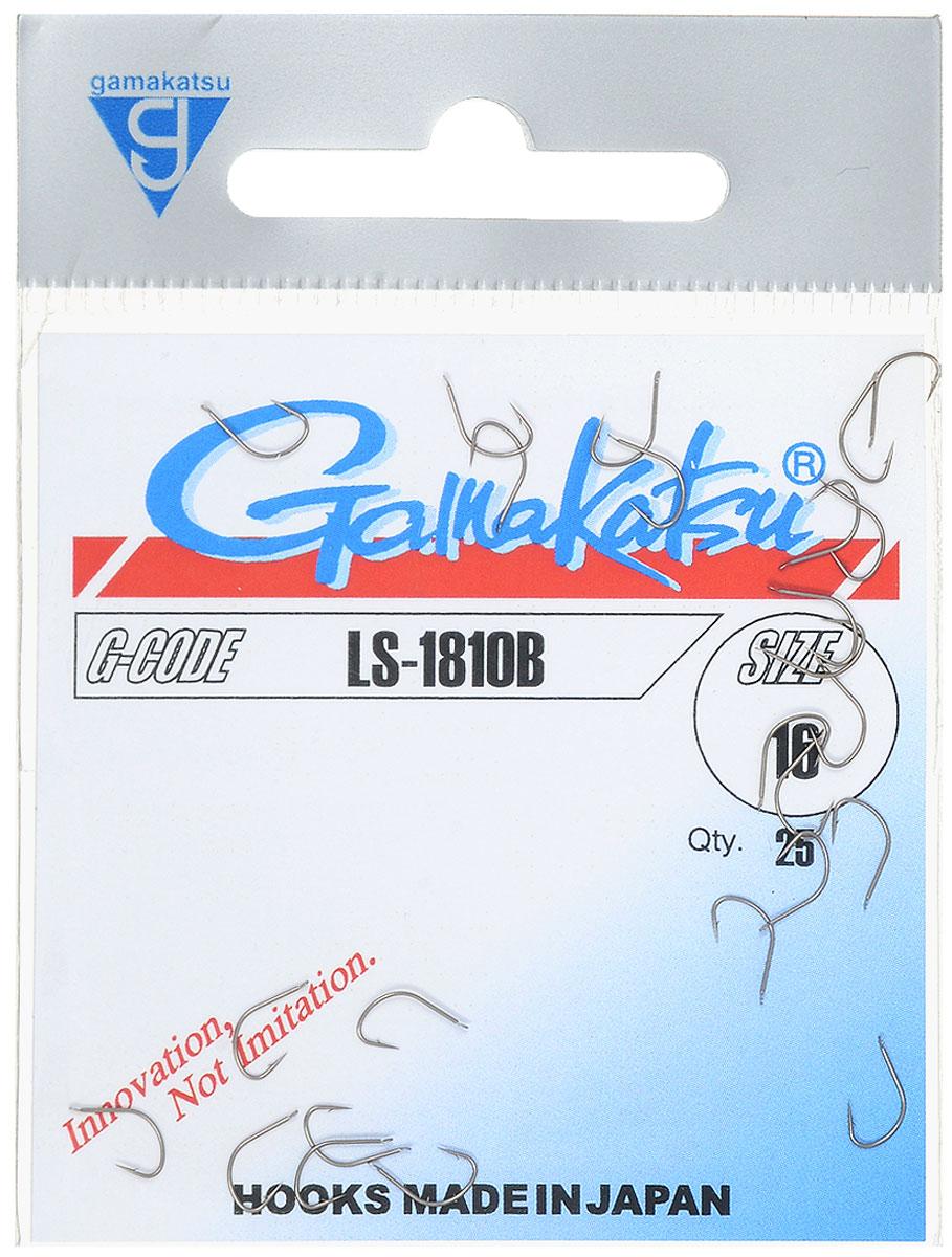 Крючок рыболовный Gamakatsu LS-1810B, №16, 25 шт14654801600Крючок Gamakatsu LS-1810B - это крючок с лопаткой, удлиненным цевьем и острым изгибом. Выполненные из высококачественной стали, крючки на 20% надежнее и мощнее по сравнению с большинством аналогов. Размер крючка: №16. Вид крепления: лопатка. Количество штук в упаковке: 25 штук.