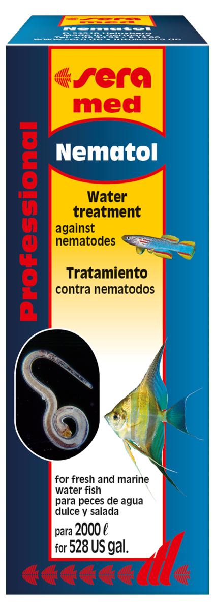 Средство для воды Sera Nematol, 50 мл2204Средство для воды Sera Nematol - специализированное лекарство для пресноводных и морских рыб против нематод, таких как Camallanus, круглых червей (Capillaria) и дискусных остриц. Заражение этими паразитами легко и безопасно устраняет высокоэффективное средство Sera Nematol. Оно действует как против самих паразитов, так и против маленьких веслоногих рачков, которых Camallanus используют как промежуточных хозяев. Повторное применение средства понадобится через 3 недели для устранения вылупившихся за это время личинок. Использовать средство особенно легко, так как к флакону прилагается измерительный стаканчик для точного дозирования.