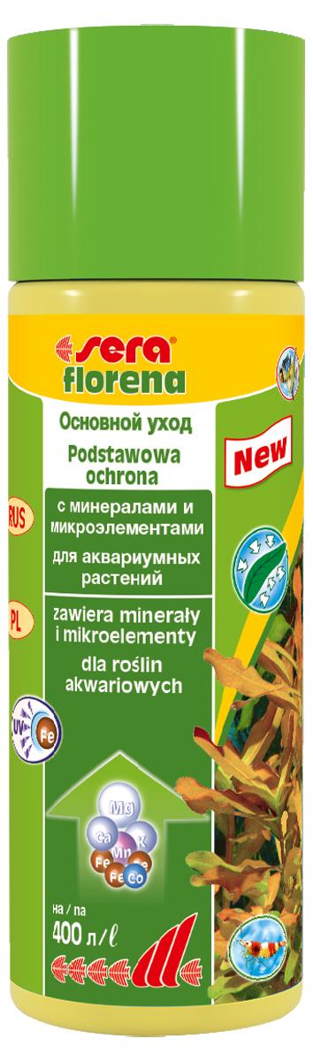 Удобрение для аквариумных растений Sera Florena, 100 мл3240Удобрение Sera Florena предназначено для ухода за теми аквариумными растениями, которые потребляют питательные вещества в основном через листья. Водные растения очень важны для обитателей аквариума, так как они потребляют из воды продукты обмена веществ рыб и питательные вещества, которые вызывают бурное развитие нежелательных водорослей. Удобрение обеспечивает аквариумные растения всеми необходимыми минералами и микроэлементами для здорового и пышного роста, благодаря чему растения могут выполнить эту задачу. Новая улучшенная формула содержит инновационные, особенно стабильные хелатные комплексы железа, которые остаются доступны даже при ежедневном использовании УФ- стерилизаторов. Продукт не содержит ни нитратов, ни фосфатов. Он безопасен для всех беспозвоночных. Комбинация sera florena и sera florenette отлично сбалансирована и оптимально соответствует всем требованиям различных аквариумных растений.