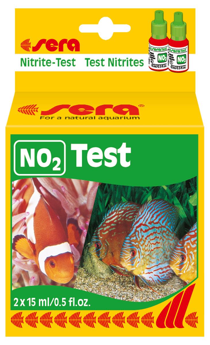 Тест для воды Sera NO2-Test, 15 мл, 2 шт4410Жидкий тест для воды Sera NO2-Test предназначен для определения концентрации нитритов. Количества реагентов достаточно для проведения приблизительно 75 измерений.