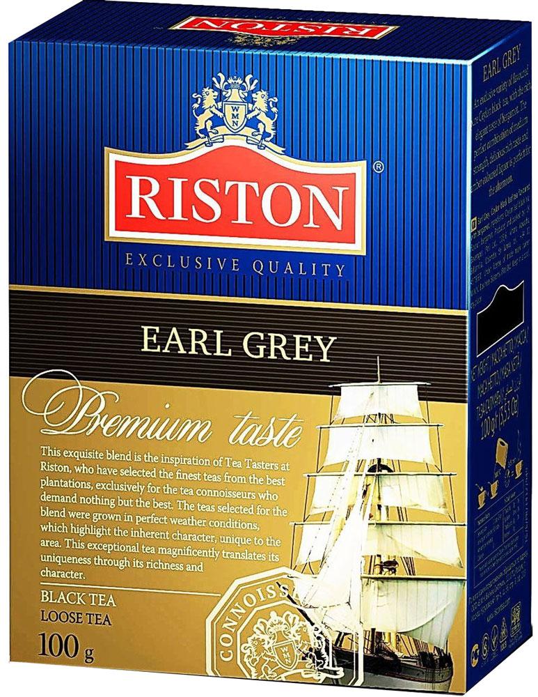 Riston Эрл грей черный листовой чай, 100 г4792156002361Riston Эрл грей - эксклюзивный сорт цейлонского черного чая с богатым изысканным ароматом бергамота. Гармоничное сочетание средней крепости, восхитительного насыщенного вкуса и янтарного настоя идеально для послеобеденного времени. Стандарт FBOP.