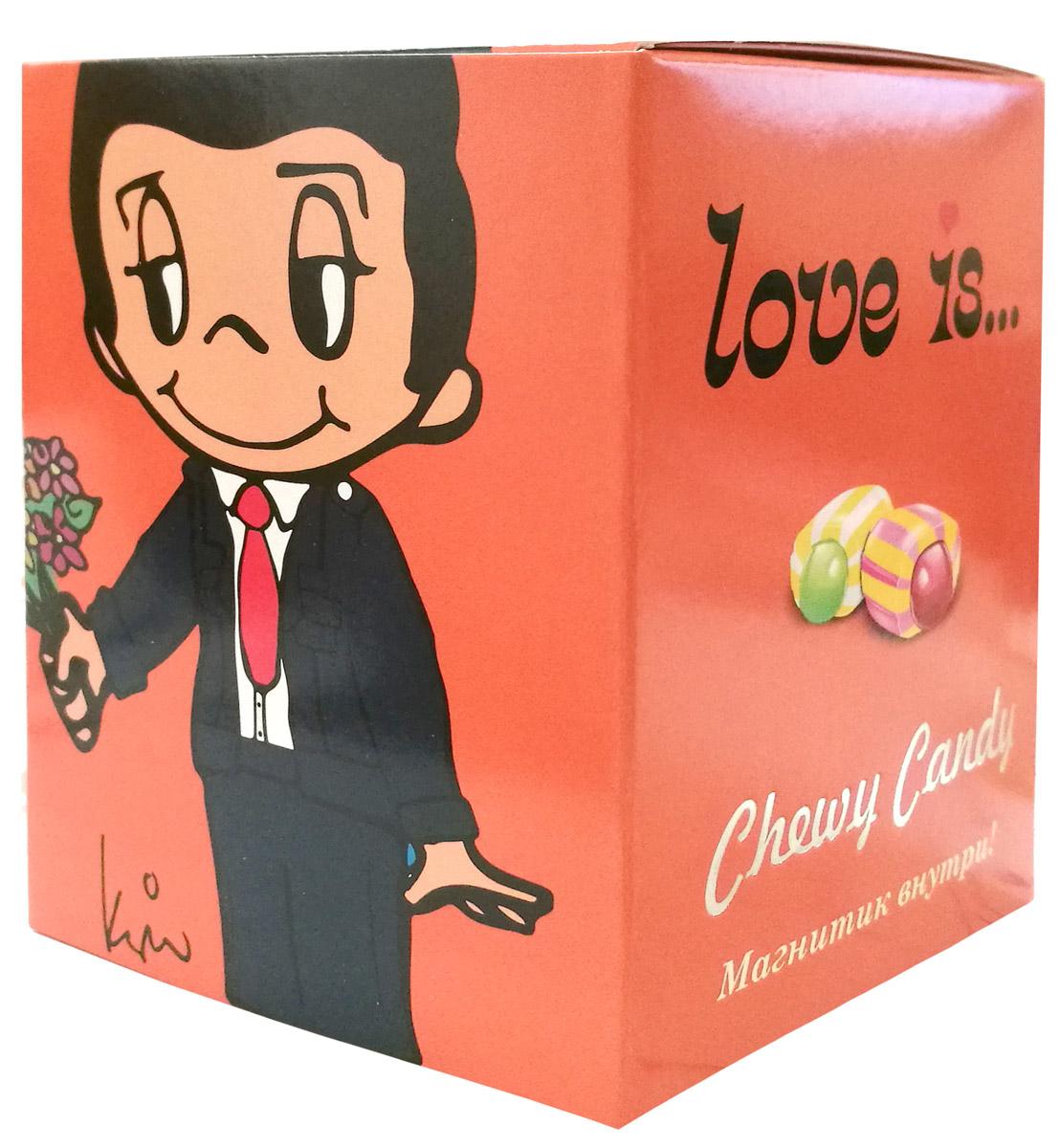 Love is Жевательные конфеты с жидким центром, 125 г70295_дыня, ананас, арбуз, тропикБольше сюрпризов от Love is! Жевательные конфеты Love Is ассорти - это жевательные конфеты с жидким центром. Дыня, ананас и арбуз-тропик - яркие вкусы для любимых. Внутри каждой обертки факты и высказывания о любви. А самое необычное мы приготовили на дне упаковки. Магнит с предсказанием в каждой коробочке! Вся серия - это 46 магнитиков. Уважаемые клиенты! Обращаем ваше внимание, что полный перечень состава продукта представлен на дополнительном изображении. Упаковка может иметь несколько видов дизайна. Поставка осуществляется в зависимости от наличия на складе.