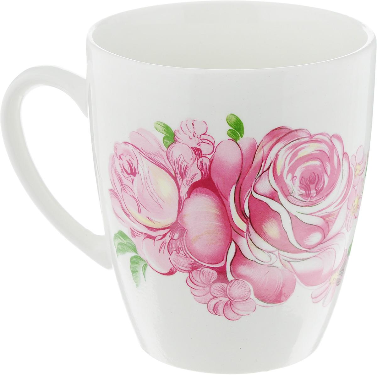 Кружка Кубаньфарфор Розовые розы, 370 мл0177_Розовые розыОригинальная кружка Кубаньфарфор Розовые розы выполнена из высококачественного фаянса и оформлена изображением роз. Такая кружка станет отличным дополнением к сервировке семейного стола и замечательным подарком для ваших родных и друзей. Диаметр кружки (по верхнему краю): 8,5 см. Высота кружки: 10 см.