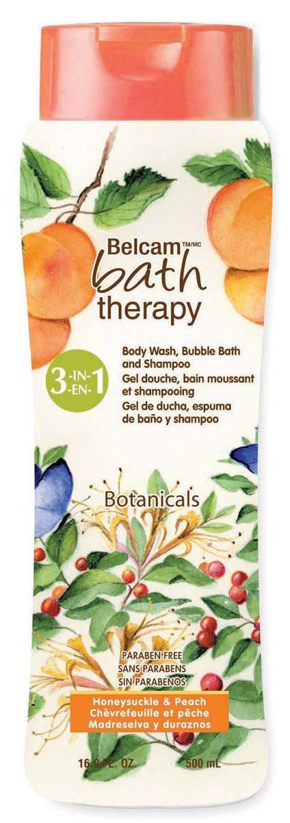 Bath Therapy Шампунь, Гель Для Душа, Пена Для Ванны «Жимолость и персик» 3-в-1, 500 мл.Б33041_шампунь-барбарис и липа, скраб -черная смородинаВосхитительный аромат Жимолости и Персика дарит Вам ощущение бесконечного удовольствия и улучшает настроение! Специально подобранные ингредиенты придают мягкость коже и шелковистость Вашим волосам.