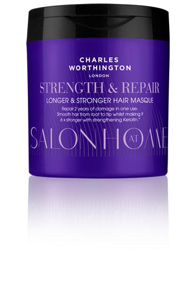 Charles Worthington Маска для восстановления волос Длина и сила, 160 мл.R5204Маска помогает Вашим волосам вырасти до максимальной потенциально возможной длины. Его питательная формула не только восстанавливает даже самые сильные повреждения за одно применение, но и защищает от повреждений от горячих укладок, помогает предотвратить выпадение волос.