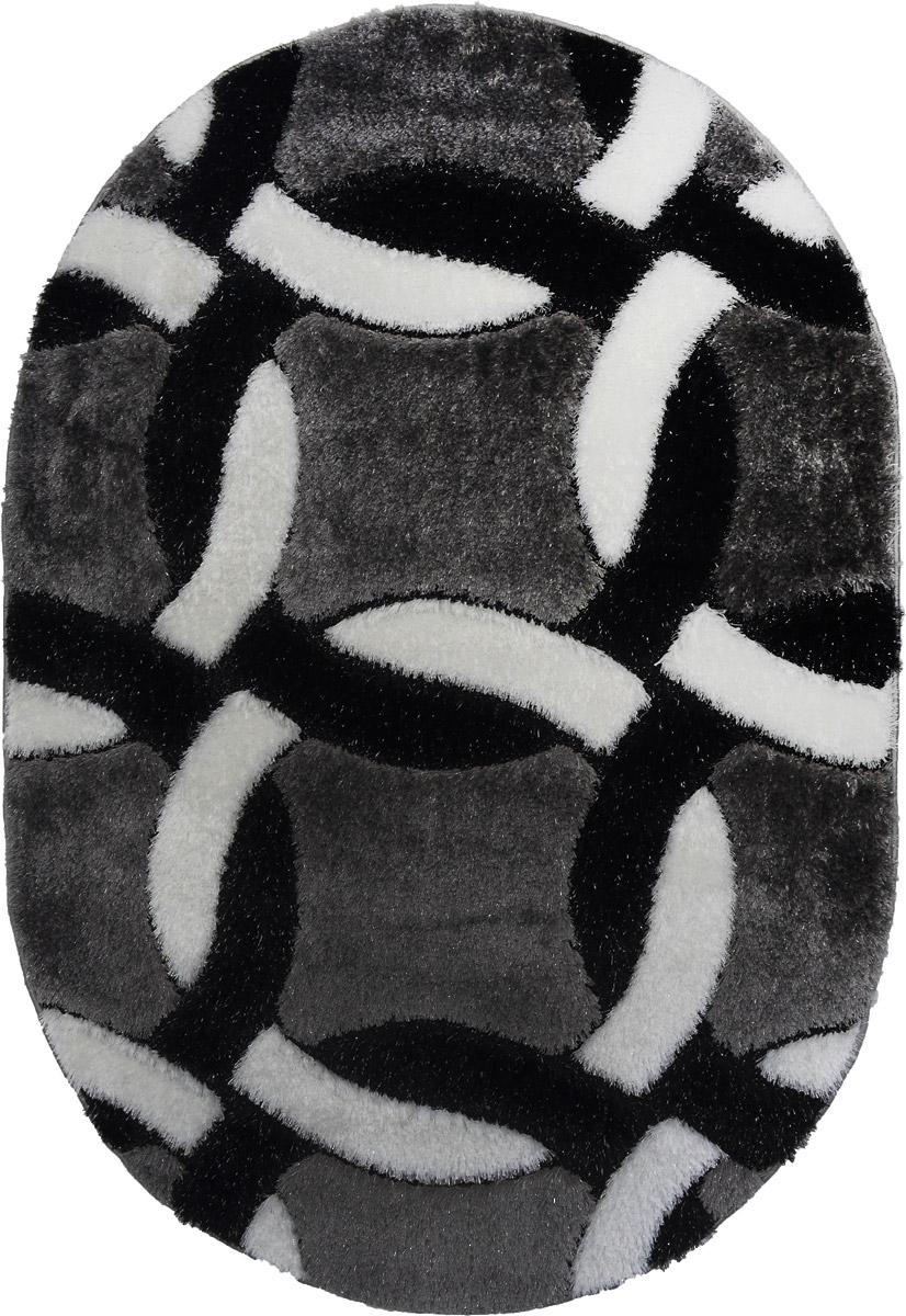Ковер Mutas Carpet Anatolia Cotton Fashion, овальный, цвет: черный, белый, серый, 120 х 180 см0610B920130212125505Ковер Ковер Mutas Carpet Anatolia Cotton Fashion прекрасно подойдет для любого интерьера. Изделие изготовлено из полиэстера 50%, микрофибры 30% и букле 20%. За счет прочного ворса ковер легко чистить. При надлежащем уходе синтетический ковер прослужит долго, не утратив ни яркости узора, ни блеска ворса, ни упругости. Самый простой способ избавить изделие от грязи - пропылесосить его с обеих сторон (лицевой и изнаночной). Влажная уборка с применением шампуней и моющих средств не противопоказана. Хранить рекомендуется в свернутом рулоном виде.