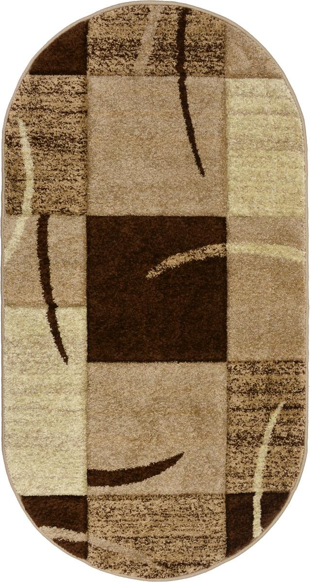 Ковер Mutas Carpet Супер ПандаЭкстра, прямоугольный, цвет: бежевый, коричневый, 80 х 150 смES-412Ковер Mutas Carpet Супер ПандаЭкстра изготовлен из прочного полипропилена. Полипропилен износостоек, нетоксичен, не впитывает влагу, не провоцирует аллергию. Структура волокна в полипропиленовых коврах гладкая, поэтому грязь не будет въедаться и скапливаться на ворсе. Практичный и износоустойчивый ворс не истирается и не накапливает статическое электричество. Ковер обладает хорошими показателями теплостойкости и шумоизоляции. Оригинальный рисунок позволит гармонично оформить интерьер комнаты, гостиной или прихожей. За счет невысокого ворса ковер легко чистить. При надлежащем уходе синтетический ковер прослужит долго, не утратив ни яркости узора, ни блеска ворса, ни упругости. Самый простой способ избавить изделие от грязи - пропылесосить его с обеих сторон (лицевой и изнаночной). Влажная уборка с применением шампуней и моющих средств не противопоказана. Хранить рекомендуется в свернутом рулоном виде.