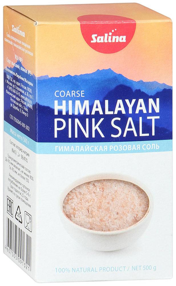 Salina соль пищевая гималайская розовая, 500 г5952Розовую соль добывают ручным способом в районе Гималайских гор, не подвергая дополнительной очистке, сохраняя все то, что дала ей природа. Область применения Гималайской соли безгранична. Розовая соль подходит для приготовления любых блюд и может широко применяться во всех кухнях мира.