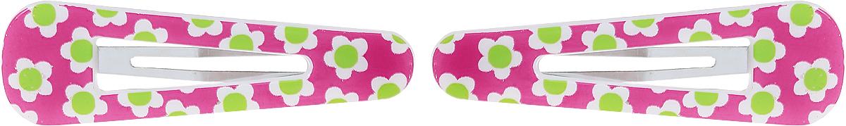 Baby's Joy Заколка для волос Цветочки цвет розовый зеленый белый 2 шт