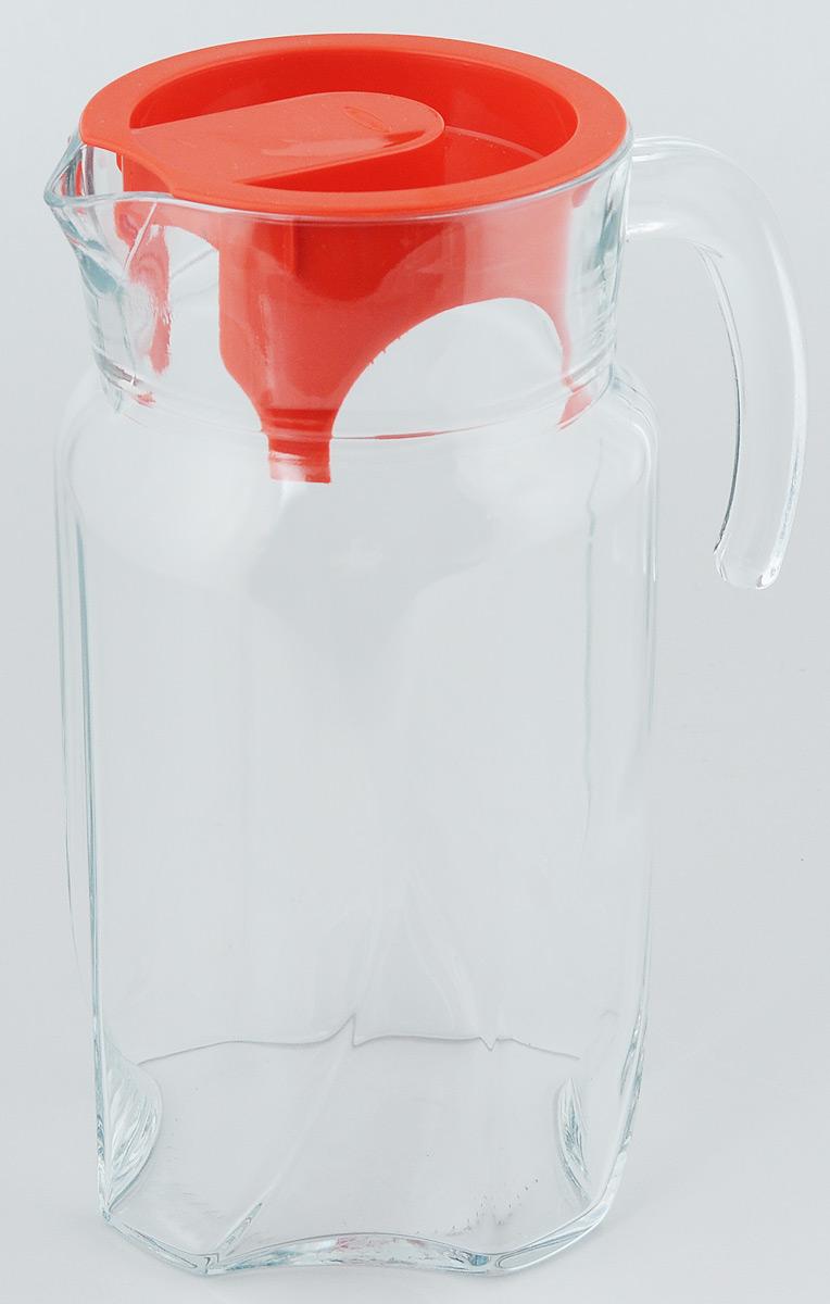 Кувшин Pasabahce Luna, с крышкой, 1750 млVT-1520(SR)Кувшин Pasabahce Luna, выполненный из прочного натрий-кальций-силикатного стекла, элегантно украсит ваш стол. Такой кувшин прекрасно подойдет для подачи воды, сока, компота и других напитков. Кувшин плотно закрывается пластиковой крышкой. Крышка устроена таким образом, что выливать жидкость можно не снимая ее, так как напиток будет проходить через специальную выемку. Совершенные формы и изящный дизайн, несомненно, придутся по душе любителям классического стиля. Кувшин Pasabahce Luna дополнит интерьер вашей кухни и станет замечательным подарком к любому празднику.Можно мыть в посудомоечной машине. Диаметр кувшина по верхнему краю (без учета носика): 11 см.Высота кувшина: 23,5 см.