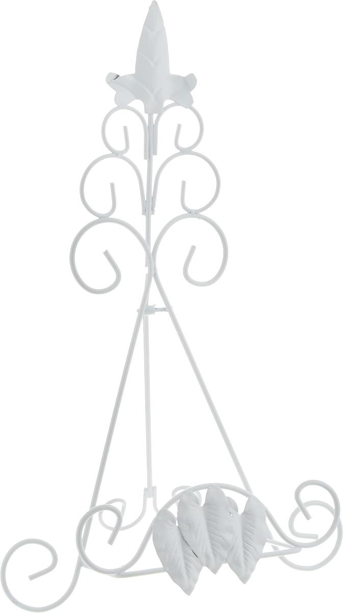 Подставка для книги Феникс-Презент Листва, цвет: белый, 22 х 17 х 35 см44166Удобная подставка Феникс-Презент Листва предназначена для книг. Изделие выполнено из окрашенного металла в классическом стиле и украшено изящными завитками и узорами. Подставка располагается на удобной ножке. Такая подставка станет прекрасным предметом декора. Размер подставки в разложенном виде: 22 х 17 х 35 см.