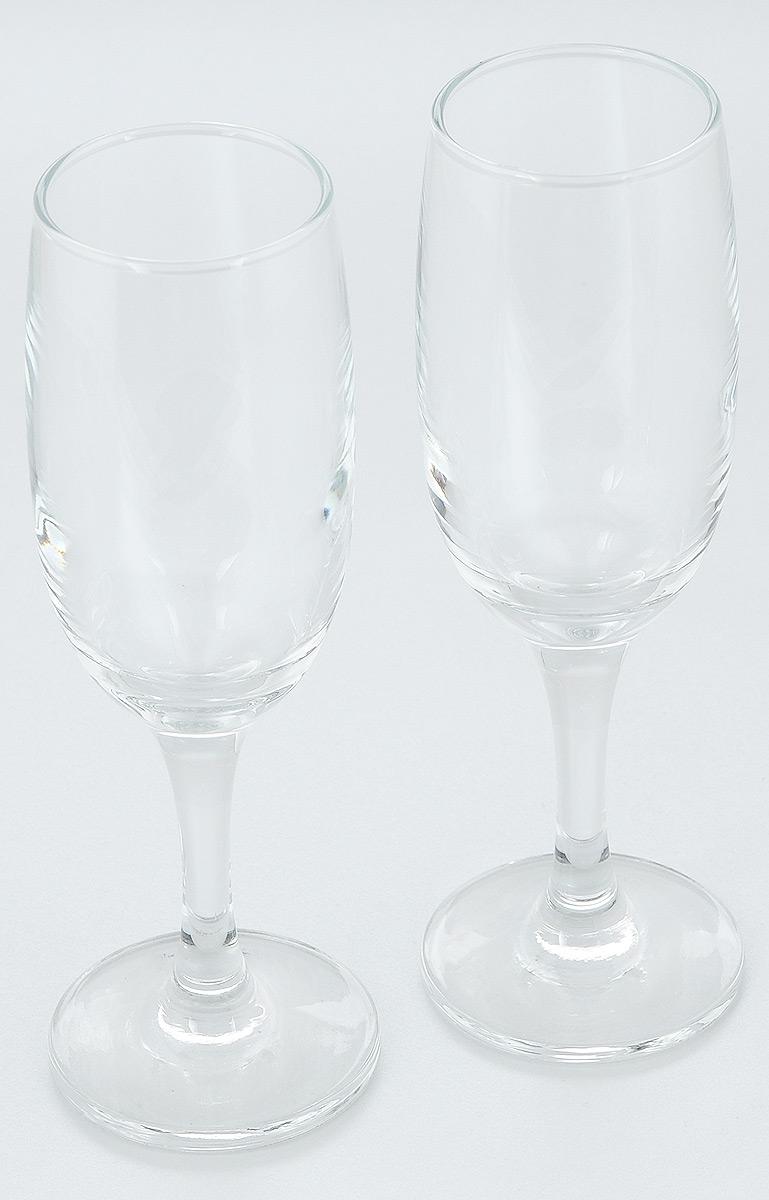 Набор бокалов Pasabahce Bistro, 190 мл, 2 шт44419B//Набор Pasabahce Bistro состоит из двух бокалов, выполненных из прочного натрий-кальций-силикатного стекла. Изделия отлично подходят для подачи игристого вина. Бокалы сочетают в себе элегантный дизайн и функциональность. Набор бокалов Pasabahce Bistro прекрасно оформит праздничный стол и создаст приятную атмосферу за ужином. Такой набор также станет хорошим подарком к любому случаю. Можно мыть в посудомоечной машине. Диаметр бокала (по верхнему краю): 5 см. Высота бокала: 19 см.