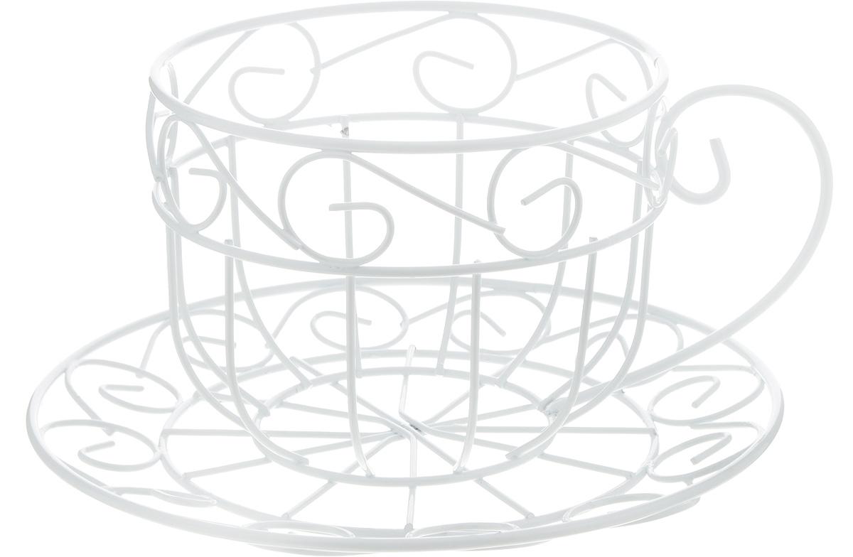 Кашпо Феникс-Презент Чайная чашка, цвет: белый, 22 х 21 х 11,5 см44164Кашпо Феникс-Презент Чайная чашка изготовлено из металла в виде чашки с блюдцем. Кашпо - это декоративная ваза для цветочных горшков. Фигурные кашпо для цветов служат объектом декора помещения. Дом, украшенный фигурными кашпо, приобретает свою оригинальность, свой характер. Неожиданные и оригинальные кашпо для цветов - это самый простой и доступный способ сделать дом, дачу или приусадебную территорию неповторимыми. Кашпо Чайная чашка - красивый и оригинальный сувенир для друзей и близких. Размер кашпо: 22 х 21 х 11,5 см. Диаметр отделения под горшок: 13 см.