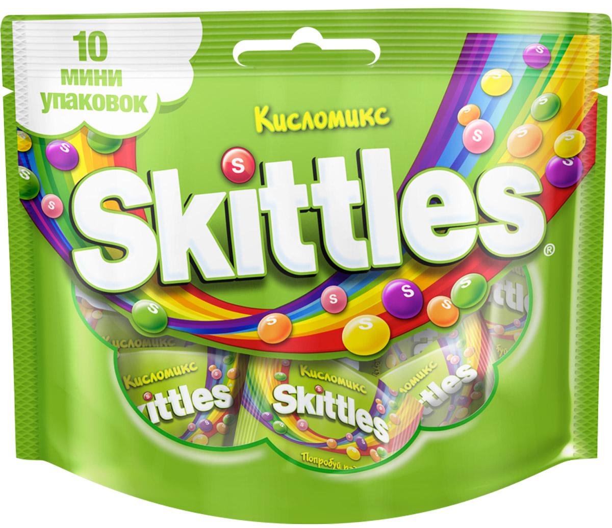 """Skittles """"Кисломикс"""" драже в сахарной глазури, 10 пачек по 12 г 4009900498159"""