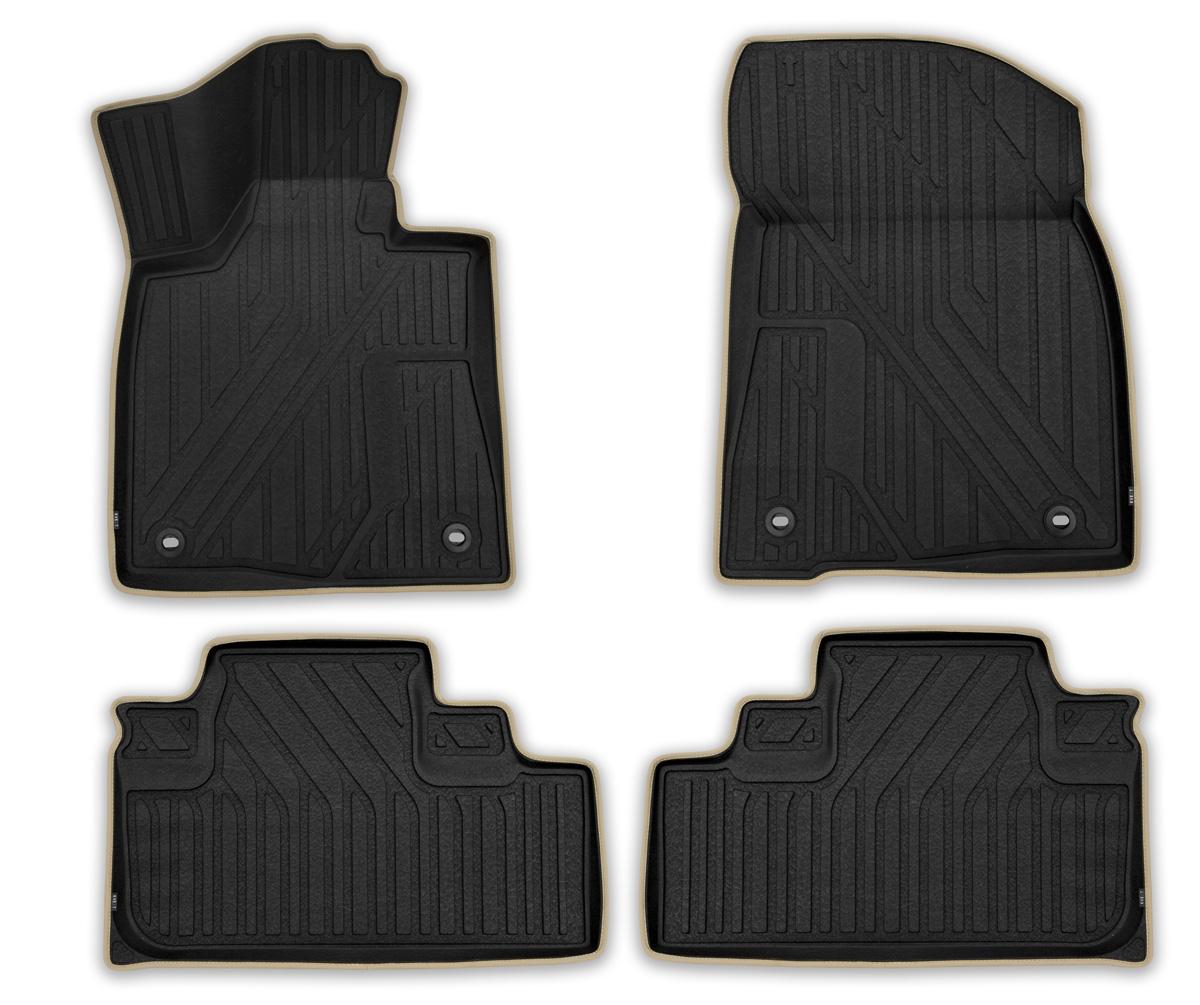 Набор автомобильных ковриков Kvest 3D Премиум для LEXUS RX 2015->, в салон, 4 шт. (полистар, черно-серые)SC-FD421005День за днем, шаг за шагом наша команда Novline -Autofamily создавала продукт, отвечающий высочайшему уровню комфорта и максимальной степени безопасности. Ковры KVEST – изделия, которыми сегодня мы имеем полное право гордиться.При производстве автомобильных ковриков KVEST мы используем полистар — разработанный нами инновационный материал. Легкий и вместе с тем прочный коврик из этого полимера обладает повышенной устойчивостью к истиранию; сохраняет свои свойства в широком диапазоне температур (от минус 50 до 50 °С); не имеет запаха и абсолютно безопасен для человека; экологичен и пригоден для вторичной переработки.Коврики KVEST идеально повторяют геометрию салона автомобиля. Площадка отдыха левой ноги полностью закрыта ковриком, а высокий борт защищает не только пол, но и другие элементы салона. Ваша обувь остается максимально защищенной от грязи, воды и соляной смеси на протяжении всего пути благодаря объемной текстуре изделия. С автомобильными ковриками KVEST вы сможете забыть о неблагоприятных внешних условиях и сосредоточиться только на управлении автомобилем.Мы сделали коврики KVEST в соответствии с самыми жесткими требованиями автомобильных стандартов. Коврики надежно прикреплены к полу штатными фиксаторами, а уникальная нескользящая поверхность препятствует их смещению. Коврики KVEST обеспечат водителю и пассажирам максимальное удобство.Тщательно подобранный цвет ковриков отлично гармонирует с цветом салона. Эффект «шагреневой кожи» добавляет экстравагантности и подчеркивает статус вашего автомобиля.Края коврика аккуратно и бережно обшиты лентой и вносят дополнительные эксклюзивные штрихи. Динамику и законченный вид интерьеру придает эргономичная текстура. Коврики KVEST, безусловно, идеальное дополнение к вашему автомобилю.