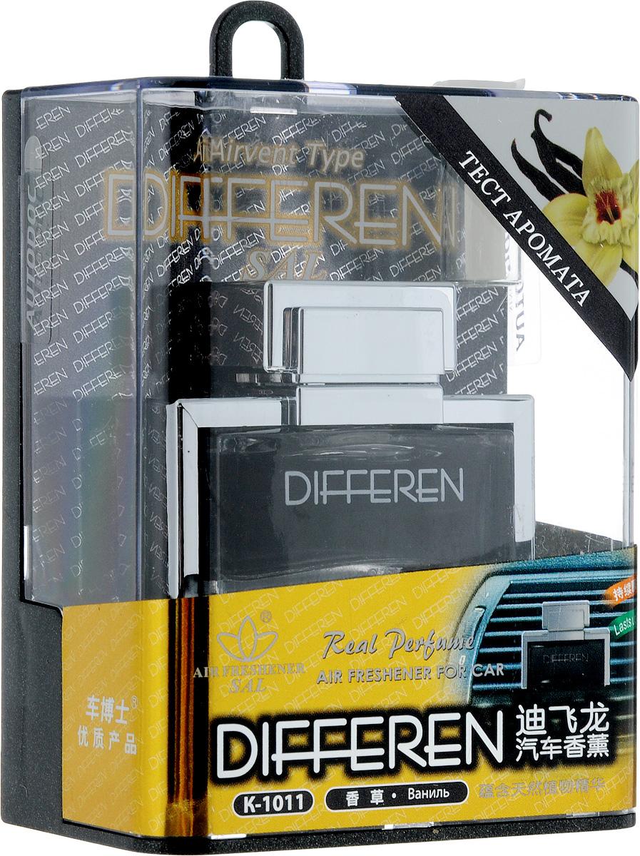 Ароматизатор автомобильный Autodoc Differen. Vanilla, на дефлектор, 12,5 млK-1011Автомобильный ароматизатор Autodoc Differen. Vanilla эффективно устраняет неприятные запахи и придает приятный аромат ванили. Кроме того, ароматизатор обладает элегантным дизайном. Благодаря особой конструкции, изделие крепится на дефлектор.