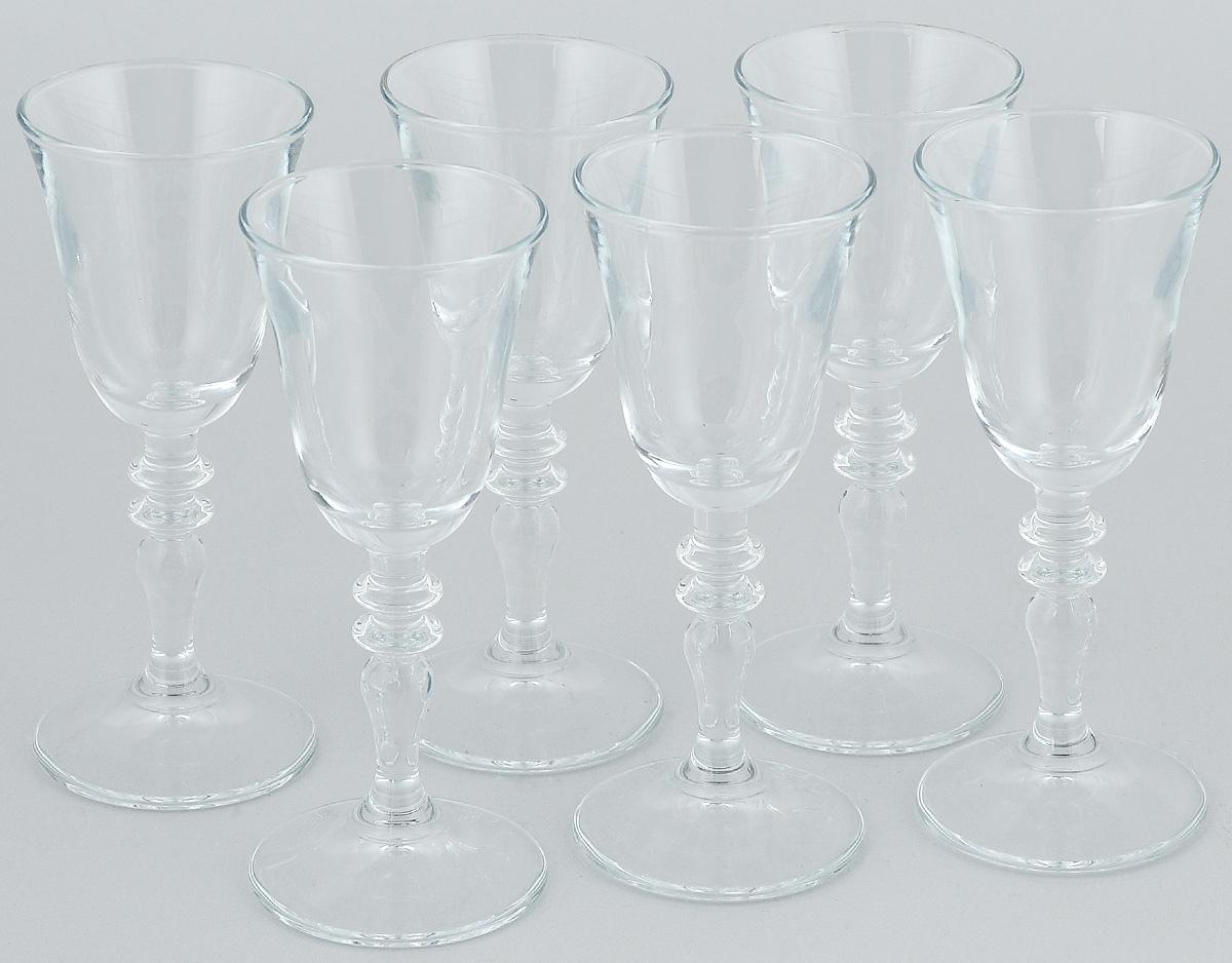 Набор рюмок Pasabahce Vintage, 50 мл, 6 шт440182BНабор Pasabahce Vintage состоит из 6 рюмок, изготовленных из прочного натрий-кальций-силикатного стекла. Изделия, предназначенные для подачи ликера и других спиртных напитков, несомненно придутся вам по душе. Рюмки сочетают в себе элегантный дизайн и функциональность. Набор рюмок Pasabahce Vintage идеально подойдет для сервировки стола и станет отличным подарком к любому празднику. Высота рюмки: 13 см. Диаметр рюмки: 5 см.