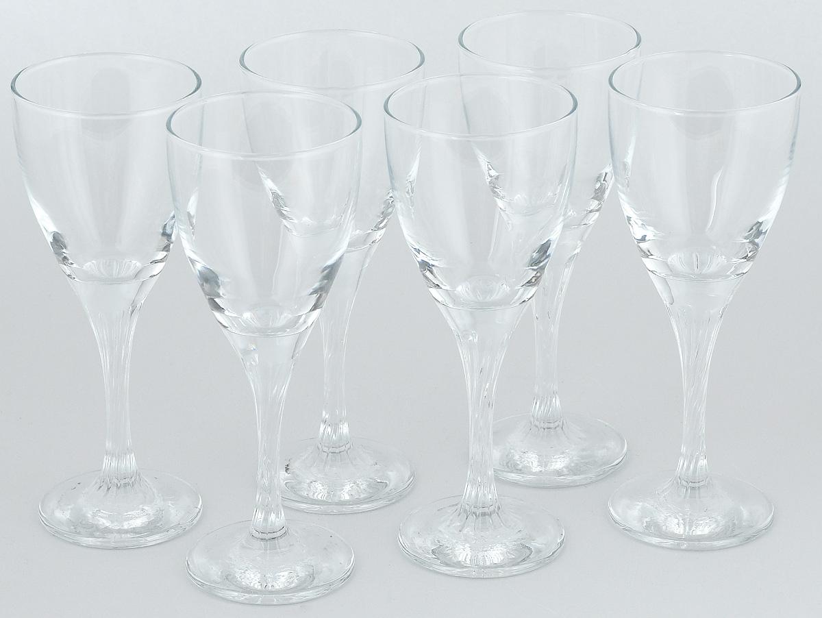 Набор бокалов Pasabahce Twist, 180 мл, 6 штVT-1520(SR)Набор Pasabahce Twist состоит из шести бокалов, выполненных из прочного натрий-кальций-силикатного стекла. Изделия оснащены невысокими ножками и сочетают в себе элегантный дизайн и функциональность. Набор бокалов Pasabahce Twist прекрасно оформит праздничный стол и создаст приятную атмосферу за романтическим ужином. Такой набор также станет хорошим подарком к любому случаю.