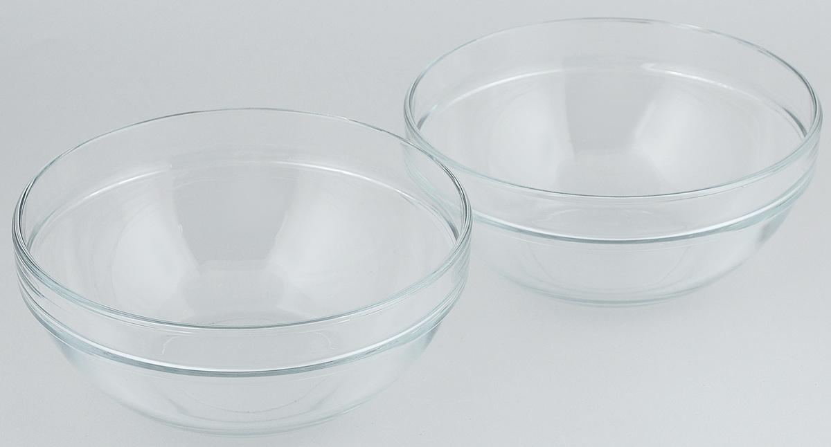 Набор салатников Pasabahce Chefs, диаметр 20 см, 2 штVT-1520(SR)Набор Pasabahce Chefs состоит из 2 салатников, выполненных из высококачественного натрий-кальций-силикатного стекла. Такие салатники прекрасно подойдут для сервировки стола и станут достойным оформлением для ваших любимых блюд. Высокое качество и функциональность набора позволят ему стать достойным дополнением к вашему кухонному инвентарю.Диаметр салатника: 20 см.Объем салатника: 1,5 л.Высота салатника: 9 см.