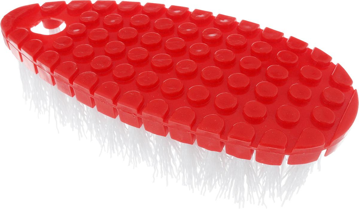 Щетка Home Queen Флекси, гибкая, цвет: красный, белый, 16 х 7 х 3,5 см57064_красный, белыйЩетка Home Queen Флекси, выполненная из полипропилена, подходит для очистки поверхностей кухни и ванной комнаты. Благодаря гибкому основанию, изделие легко справится с труднодоступными загрязнениями. Размер щетки: 16 см х 7 см х 3,5 см.