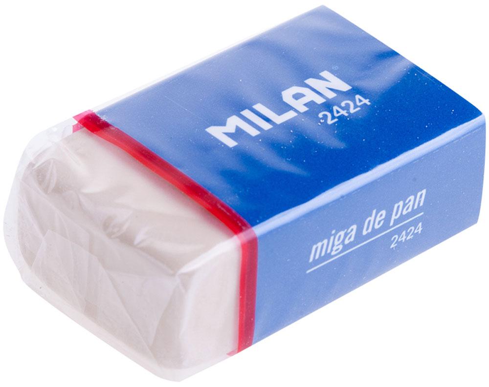 Milan Ластик 2424CMM2424Мягкий ластик Milan из синтетического каучука подходит для удаления следов всех видов чернографитных карандашей с любых поверхностей.