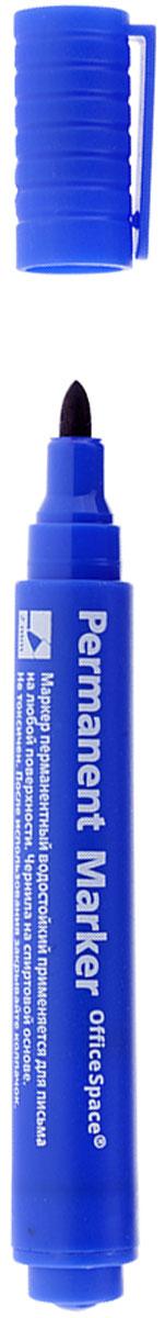 OfficeSpace Маркер перманентный цвет синийFS-00897Перманентный маркет OfficeSpace подходит для письма на любых поверхностях. Чернила на спиртовой основе. Плотный колпачок с клипом надежно предотвращает высыхание. Цвет колпачка соответствует цвету чернил. Пулевидный пишущий узел. Ширина линии 2 мм.