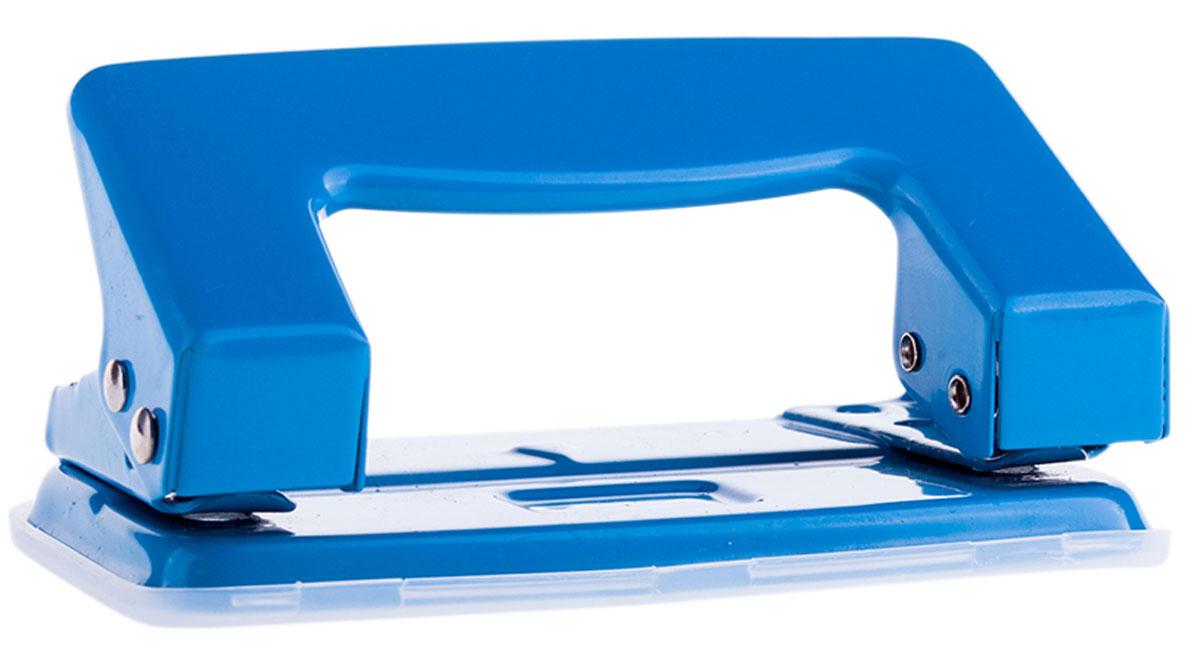 OfficeSpace Дырокол на 10 листов цвет синийP201BU_1300Дырокол OfficeSpace - это незаменимый офисный инструмент для перфорации бумаги. Дырокол с металлическим нескользящим основанием предназначен для одновременной перфорации до 10 листов бумаги. Для удобства имеет съемный пластиковый резервуар для обрезков бумаги, встроенный в основание.