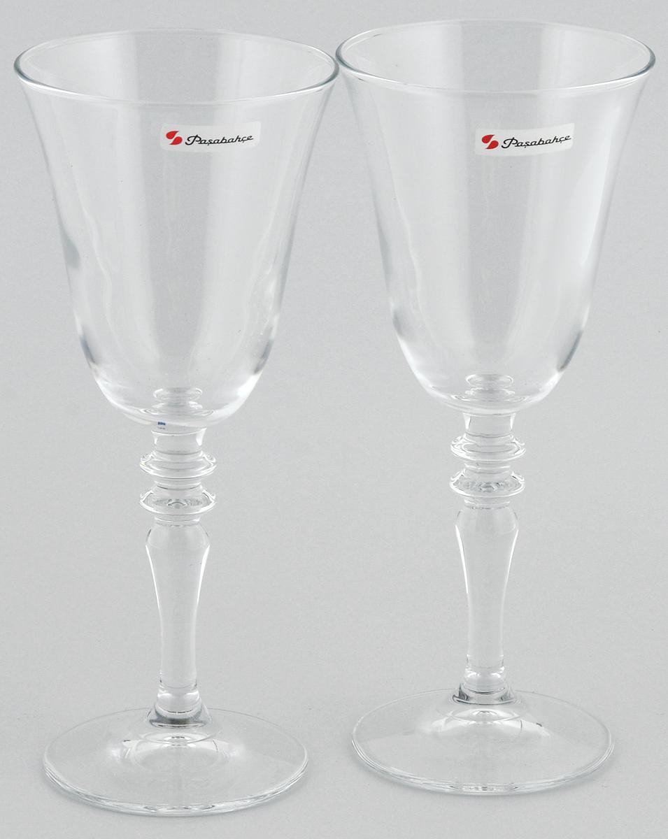 Набор бокалов для вина Pasabahce Vintage, 236 мл, 2 шт440184B//Набор Pasabahce Vintage состоит из двух бокалов, выполненных из прочного натрий-кальций-силикатного стекла. Изделия оснащены высокими ножками и предназначены для подачи вина. Они сочетают в себе элегантный дизайн и функциональность. Набор бокалов Pasabahce Vintage прекрасно оформит праздничный стол и создаст приятную атмосферу за романтическим ужином. Такой набор также станет хорошим подарком к любому случаю.