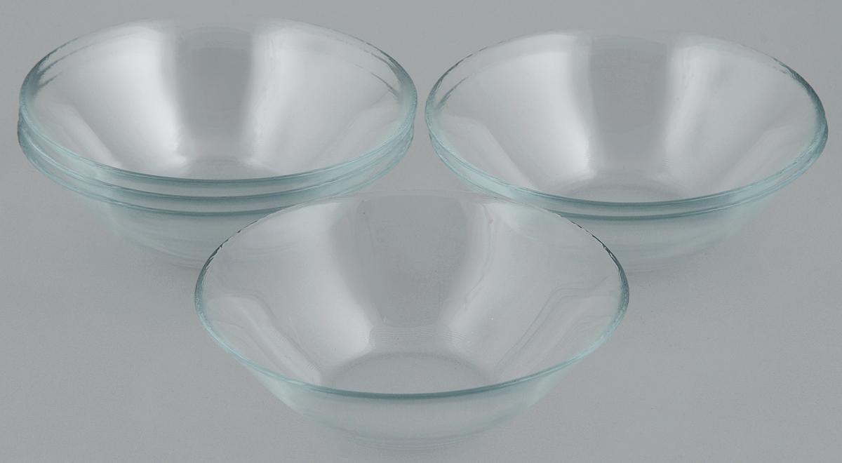 Набор салатников Pasabahce Basic, диаметр 14 см, 6 шт115610Набор Pasabahce Basic состоит из 6 салатников, выполненных из высококачественного натрий-кальций-силикатного стекла. Такие салатники прекрасно подойдут для сервировки стола и станут достойным оформлением для ваших любимых блюд. Высокое качество и функциональность набора позволят ему стать достойным дополнением к вашему кухонному инвентарю.Диаметр салатника: 14 см.