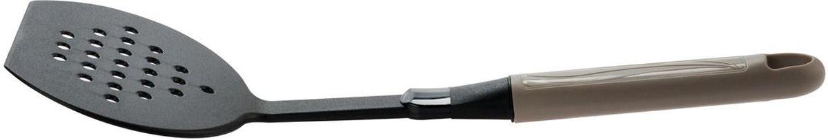 Лопатка для жарки MOULINvilla Happy, цвет: серый9031281HHA47Яркая кухонная лопатка MOULINvilla Happy выполнена из высококачественного пластика, который с легкостью выдерживает ежедневные нагрузки, кроме того, это экологически чистый материал. Такая лопатка подходит для переворачивания, деления на порции и подачи на стол вторых блюд, для переворачивания мяса при жарке, при этом, не повреждая антипригарное покрытие. Лопатка MOULINvilla Happy обладает исключительным качеством, поэтому займет достойное место среди аксессуаров на вашей кухне.