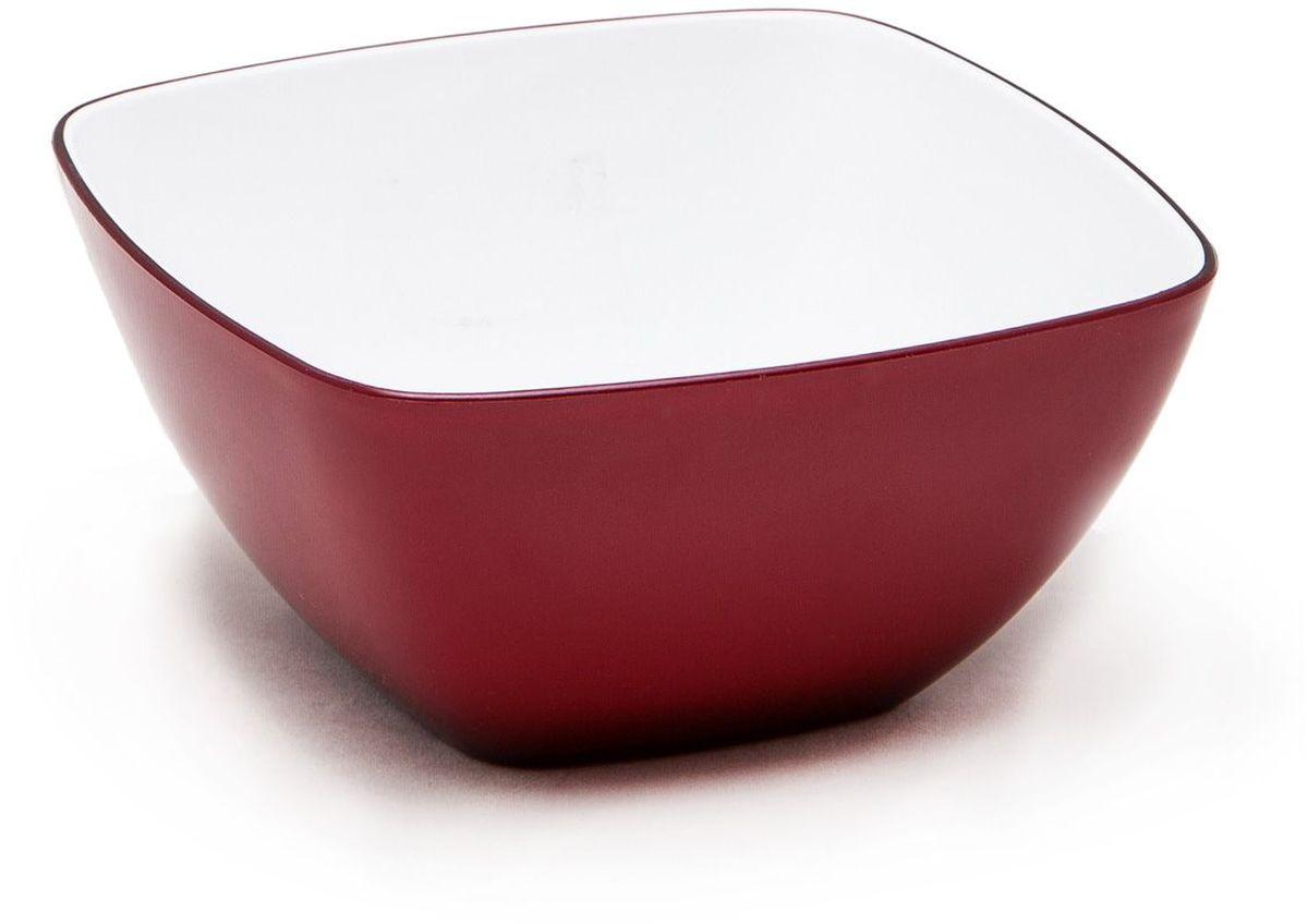 Миска MoulinVilla, цвет: бургунди, 14 х 14 смL-14BМиска компании Moulinvilla изготовлена из высококачественного акрила. Благодаря оригинальному и привлекательному дизайну выполняет не только практичную, но и декоративную функцию. Белый цвет внутренней поверхности и сочный, интенсивный цвет снаружи отлично контрастируют. В ней можно сервировать салаты, фрукты, закуски, десерты, печенье, сладости и т.д. Состав: Акрил. Можно мыть в посудомоечной машине.