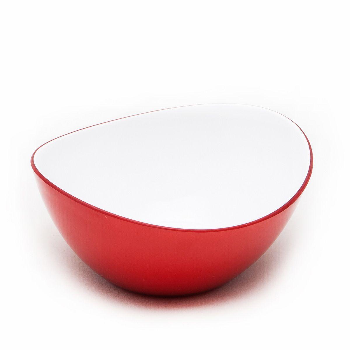 Миска MoulinVilla, цвет: красный, 16 х 14 х 6 см115510Оригинальная миска Moulinvilla, изготовленная из высококачественного акрила, благодаряпривлекательному дизайну выполняет не только практичную, но и декоративную функцию. Белый цвет внутренней поверхности и сочный, интенсивный цвет снаружи отлично контрастируют, привлекая к себе внимание.Миска подойдет для сервировки салатов, фруктов, закусок, десертов, печенья, сладостей и других продуктов.Подходит для мытья в посудомоечной машине.