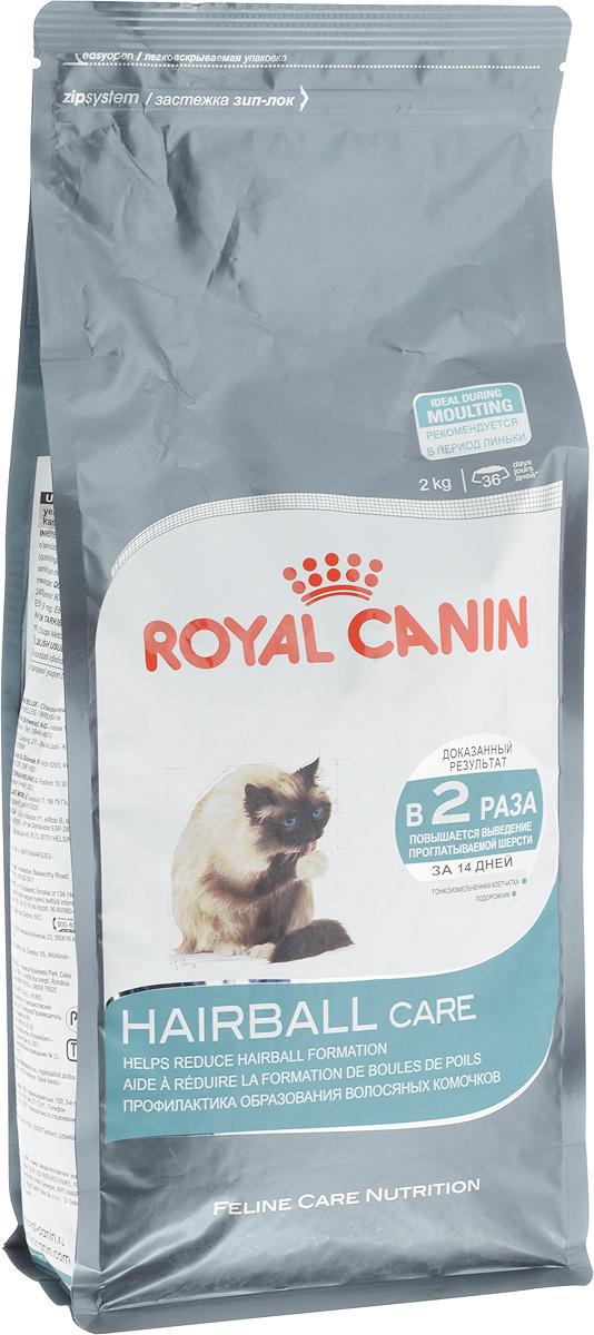 Корм сухой Royal Canin Hairball Саre, для полудлинношерстных взрослых кошек, 2 кг0120710Сухой корм Royal Canin Hairball Саre - это полноценное и сбалансированное питание, помогающее выводить комочки шерсти из желудка кошки. Доказанная эффективность. При кормлении исключительно данным рационом из пищеварительного тракта кошки выводится вдвое больше шерсти; этот эффект заметен уже через 21 день. Эвакуация естественным путем. Подорожник, богатый волокнами (растительным клеем) в сочетании с тонкоизмельченной клетчаткой стимулирует транзит пищи по кишечнику. Шерсть не скапливается в желудке и не отрыгивается, а регулярно выводится с фекалиями. Состав: дегидратированное мясо домашней птицы, рис, кукурузный глютен, растительные волокна, кукурузная мука, животные жиры, гидролизат животных белков, свекольный жом, минеральные вещества, оболочки и семена подорожника, дрожжи, соевое масло, полифосфат натрия, рыбий жир, фруктоолигосахариды, яичный порошок, DL-метионин, таурин, L-цистин.Добавки (в 1 кг):медь — 24 мг,железо — 195 мг,марганец — 61 мг/кг,цинк — 197 мг,селен — 0,2 мг,витамин A — 25000 МЕ,витамин D3 — 763 МЕ,витамин E — 600 мг,витамин C — 300 мг,витамин B1 — 28 мг,витамин B2 — 55 мг,витамин B3 — 176 мг,витамин B5 — 65 мг,витамин B6 — 52 мг,витамин B12 — 0,2 мг. Товар сертифицирован.