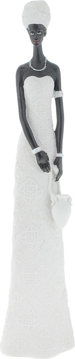 Фигурка декоративная Феникс-Презент Зола, высота 33,5 см43549Фигурка декоративная Феникс-Презент Зола, выполненная из полирезина в виде девушки с кувшином, станет оригинальным подарком для всех любителей необычных вещей. Изысканный сувенир станет прекрасным дополнением к интерьеру. Вы можете поставить фигурку в любом месте, где она будет удачно смотреться и радовать глаз.