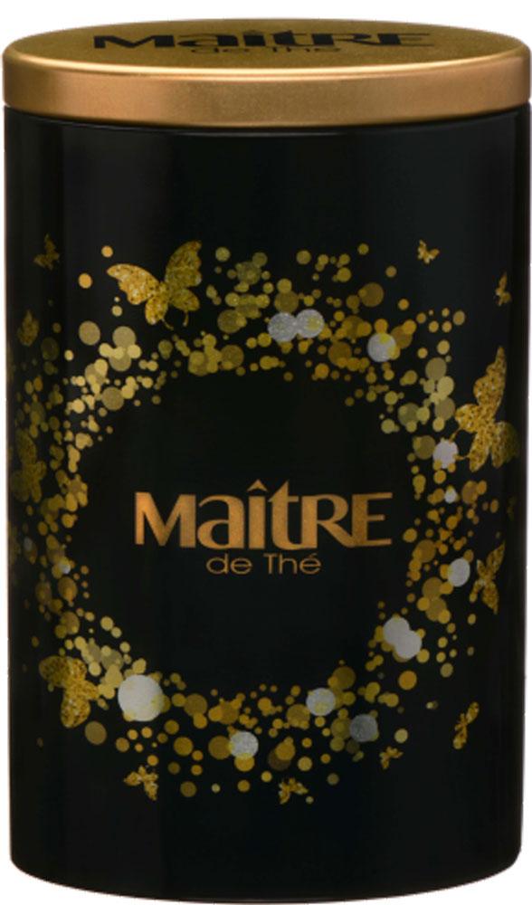 Maitre Gold & Black черный листовой чай, 90 г101246Жестяная банка с золотым принтом как сочетание стильного и эффектного. Внутри идеально подходящий к упаковке черный чай Ассам. Чай прекрасно сочетается со сладостями и медом. Насладитесь вкусом чая Maitre Gold & Black вместе со своими друзьями и близкими. У ассамского чая густой аромат и характерный настой темно-красного цвета с терпким солодово-фруктовым вкусом, он прекрасно тонизирует и отлично сочетается с молоком и разнообразными десертами.