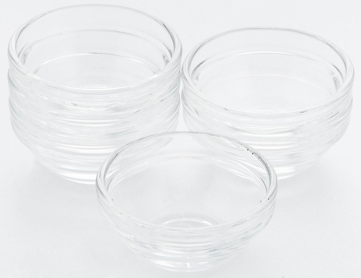 Набор салатников Pasabahce Chefs, диаметр 6 см, 6 штVT-1520(SR)Набор Pasabahce Chefs состоит из 6 салатников, выполненных из высококачественного натрий-кальций-силикатного стекла. Такие салатники прекрасно подойдут для сервировки стола и станут достойным оформлением для ваших любимых блюд. Высокое качество и функциональность набора позволят ему стать достойным дополнением к вашему кухонному инвентарю.Диаметр салатника: 6 см.Высота салатника: 3 см.