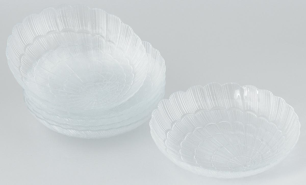 Набор тарелок Pasabahce Atlantis, диаметр 21 см, 6 шт115510Набор Pasabahce Atlantis состоит из шести тарелок, выполненных из высококачественного закаленного стекла. Они имеют оригинальную форму и декорированы рельефным узором. Тарелки прекрасно подойдут для красивой сервировки различных блюд. Оригинальность оформления тарелок придется по вкусу и ценителям классики, и тем, кто предпочитает утонченность и изящность. Набор тарелок Pasabahce Atlantis станет украшением вашего стола и послужит отличным подарком к любому празднику.