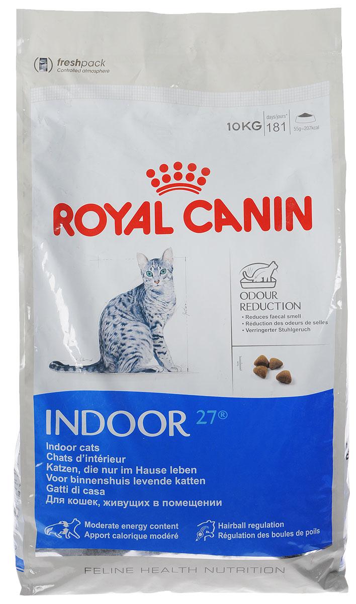 """Корм сухой Royal Canin """"Indoor 27"""", для кошек в возрасте от 1 года до 7 лет, живущих в помещении, для ослабления запаха фекалий, 10"""