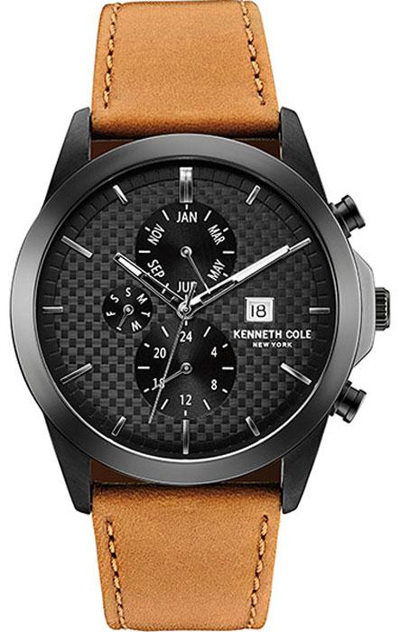 Наручные часы мужские Kenneth Cole Dress Sport, цвет: коричнеый. 10030792BP-001 BKНаручные часы Kenneth Cole, корпус и задняя крышка из стали