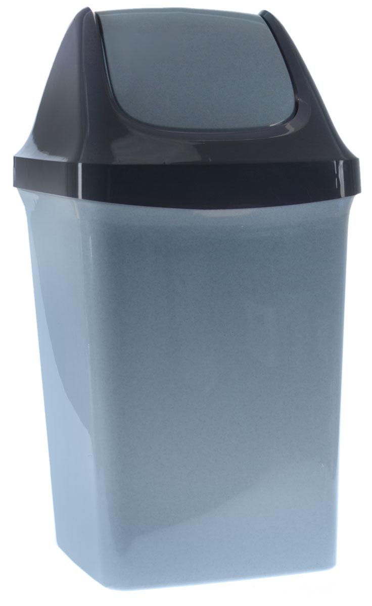 Контейнер для мусора Idea Свинг, цвет: голубой, синий, 50 лМ 2464_серо-голубой, темно-синийКонтейнер для мусора Idea Свинг, изготовленный из прочного полипропилена, снабжен удобной съемной крышкой с подвижной перегородкой. Благодаря лаконичному дизайну такой контейнер идеально впишется в интерьер и дома, и офиса. Размер контейнера: 40 х 33 х 74 см. Объем: 50 л.