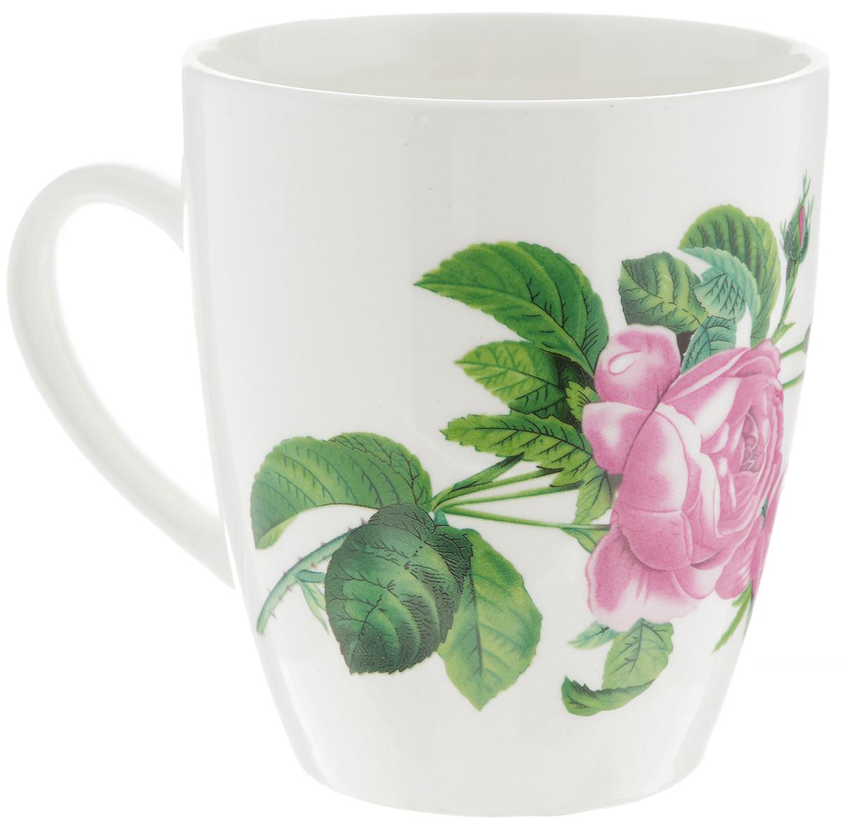 Кружка Кубаньфарфор Роза Кавказа, 370 мл салатник кубаньфарфор роза кавказа 18 5 х 18 5 см