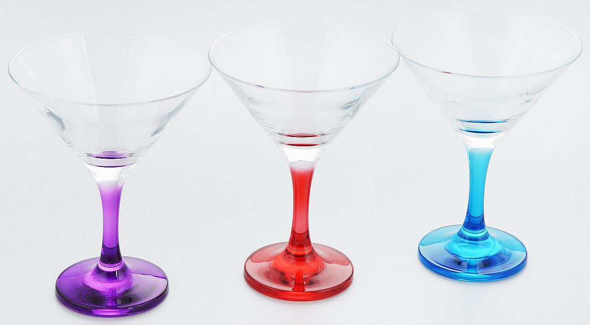 Набор бокалов Pasabahce Enjoy, 190 мл, 3 штVT-1520(SR)Набор Pasabahce Enjoy состоит из 3 бокалов, изготовленных из высококачественного натрий-кальций-силикатного стекла. Изделия оснащены цветными ножками и подойдут для подачи вина. Такой набор прекрасно дополнит праздничный стол и станет желанным подарком в любом доме.