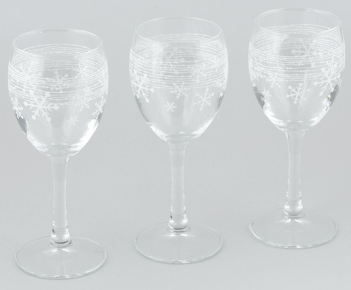 Набор бокалов Pasabahce WorkshopSnowflake, 230 мл, 3 штVT-1520(SR)Набор Pasabahce Workshop Snowflake состоит из 3 бокалов, выполненных из прочного натрий-кальций-силикатного стекла. Изделия оснащены тонкими высокими ножками и оформлены изящным изображением снежинок. Бокалы излучают приятный блеск и издают мелодичный звон. Предназначены для подачи вина. Набор бокалов Pasabahce Workshop Snowflake прекрасно оформит новогодний стол и создаст атмосферу праздника, а необычный яркий дизайн удивит ваших гостей.