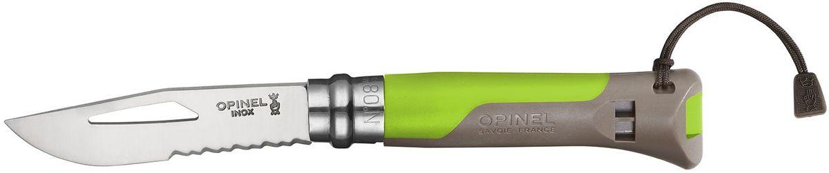 """Нож Opinel """"Specialists. Outdoor №08"""", длина клинка 8,5 см, цвет: зеленый 001715"""