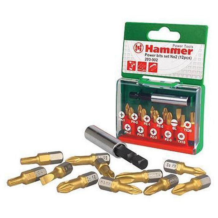 "Набор бит Hammer ""Flex 203-902 PB №2"", Ph/Pz/Sl/Tx, 12 шт. 30736"
